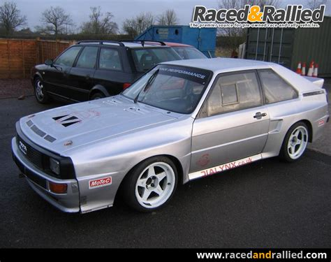 Audi Rally Car For Sale by Audi Quattro Rally Cars For Sale At Raced Rallied