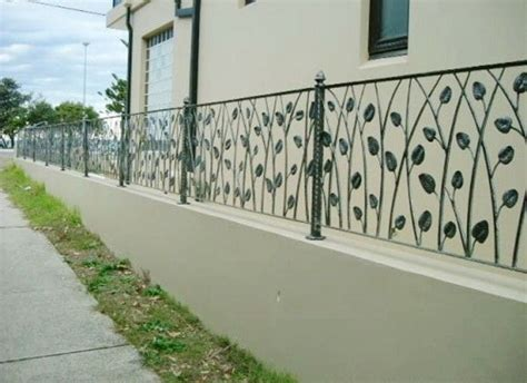 wrought iron fence  top  block wall google search