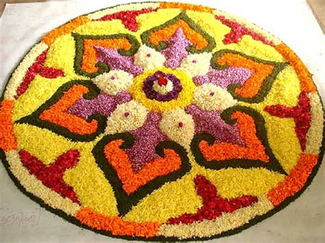 Flower Pattern Rangoli Design | rangoli designs coloring part 9