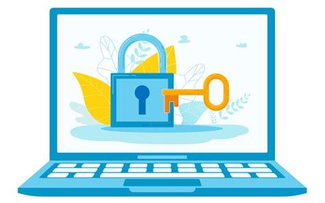 computer system password conceptual illustration vector