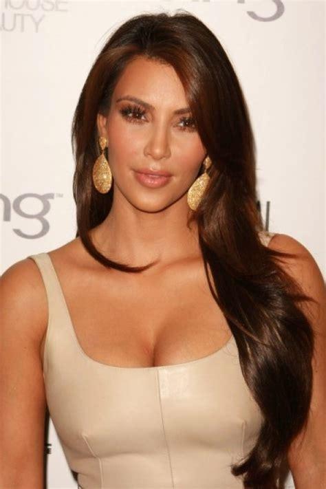 kim kardashian hair color brown celebrities with chocolate brown hair color