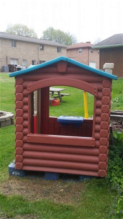 Plastic Log Cabin Playhouse by Log Cabin Playhouse Ohio Fishing Your Ohio