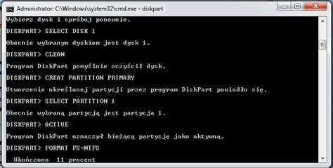 diskpart komendy format jak zainstalować windows 7 poznaj 7 prostych krok 243 w
