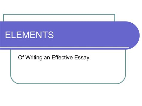 Elements Of Essay Organization by Elements Of Essay Organization Writefiction581 Web Fc2