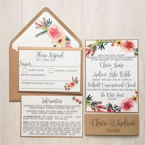Wedding Card Invitation Uk by 20 Of The Loveliest Illustrated Wedding Invitations From