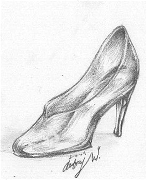 how to draw a glass slipper the glass slipper by otterfang on deviantart