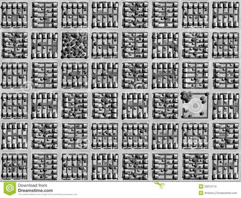grid pattern of streets grid plan stock images image 23212114