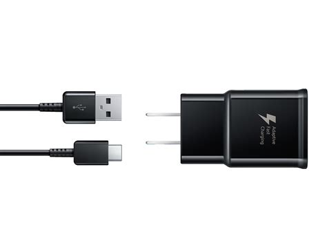 fast charge travel charger  usb  cable black mobile