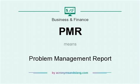 problem management report sle pmr problem management report in business finance by