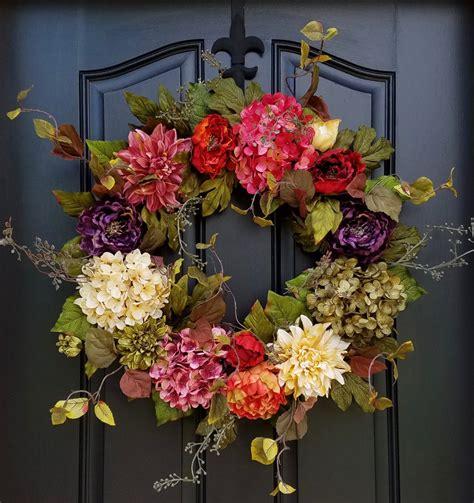 Wreaths Inspiring Exterior Door Wreaths Outdoor Wreaths Cheap Wreaths For Front Door