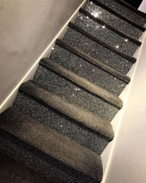 glitter wallpaper on stairs we have the best stairs in reigate glitter carpet