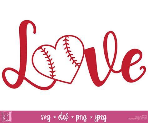 2 baseball heart svg softball heart svg love baseball