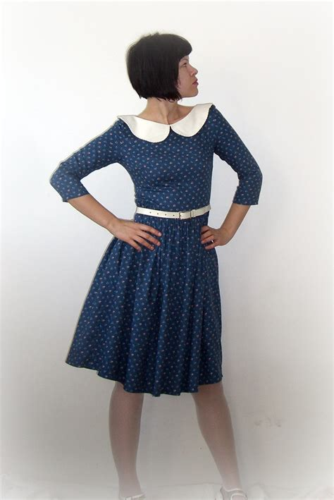 Dress Pattern With Peter Pan Collar | cotton dress with peter pan collar sewing projects