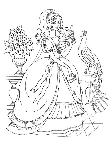beautiful princess girl coloring pages