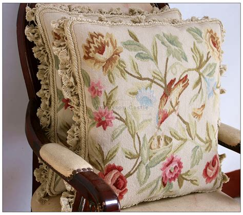 chic bird aubusson pillow wool chair bed sofa bench