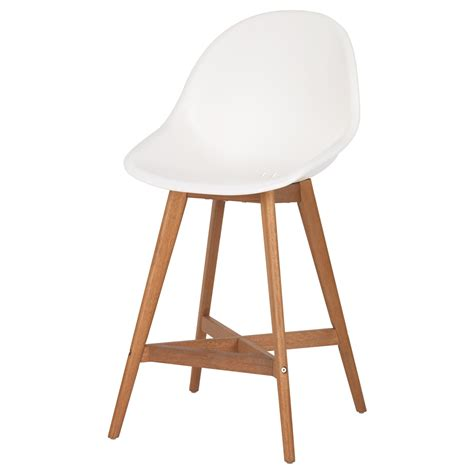 ikea wooden bar stool fanbyn bar stool with backrest white 64 cm ikea