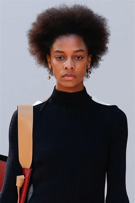 Afro Hair On The Catwalk