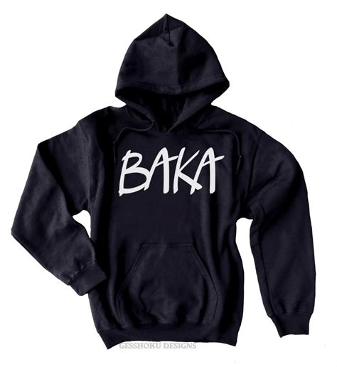 Hoodie Anime In The Streets Zemba Clothing baka text pullover hoodie baka hoodie