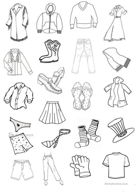 clothes mini flashcards worksheet free esl printable