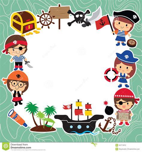 Pirates Kids Layout Design Stock Vector   Image: 45711812