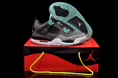 air 4 shoes black turquoise nike0823