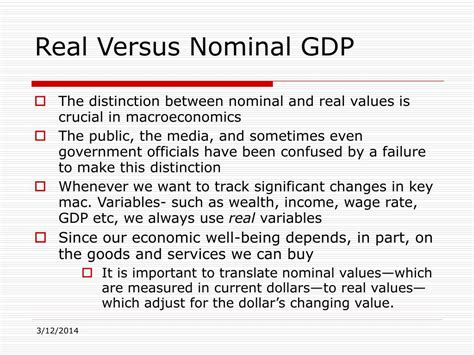nominal vs real gdp ppt production and gross domestic product gdp a