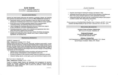 resume format for office assistant office assistant resume sle