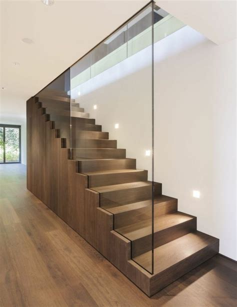 escaleras modernas  interiores ideas de diseno emarqnet