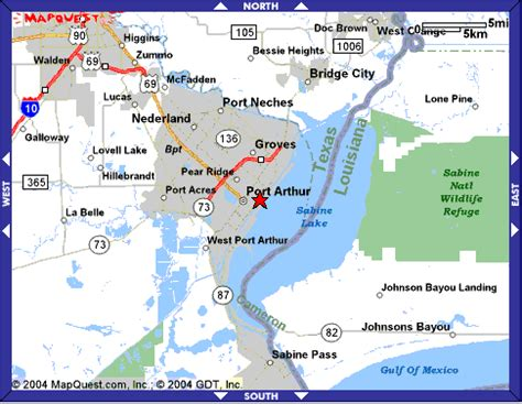 map of port arthur texas maps to 3731 lake shore drive