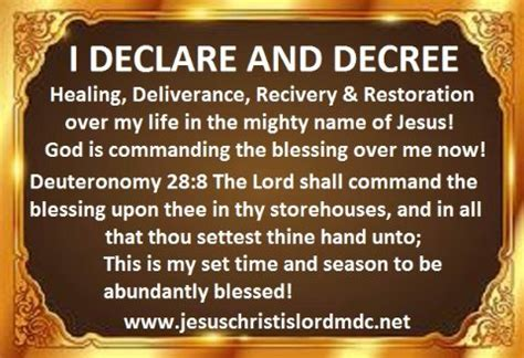 prayers and declarations for the of god confront strongholds and stand firm against the enemy books www jesuschristislordmdc net i declare decree healing