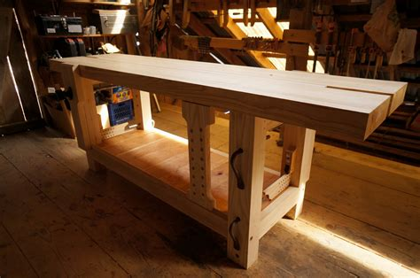 split top roubo bench finished ash split top roubo workbench the year of mud