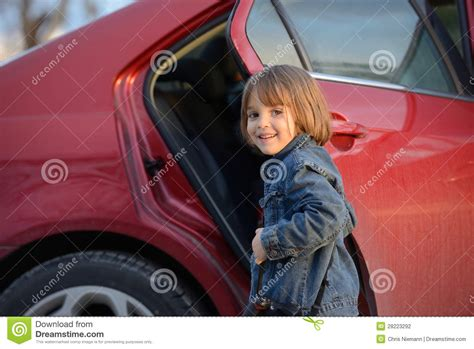 Gets Into Another Car by Child About To Get Into Car Stock Photography Image