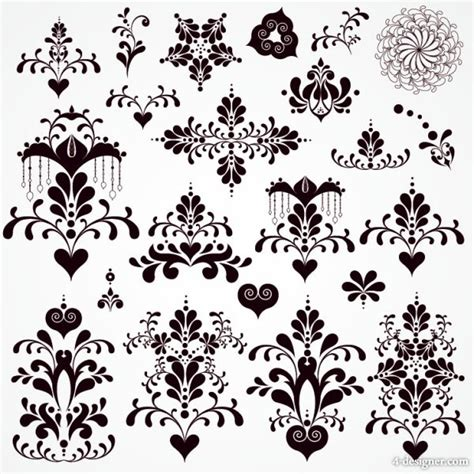 pattern classic vector 4 designer classic lace pattern 07 vector material