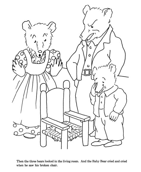 3 Bears Coloring Page by Three Bears Coloring Pages Coloring Pages
