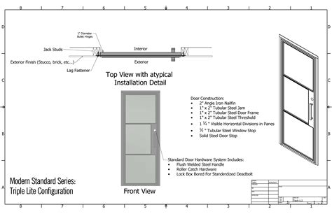 Overhead Door Specifications Iron Door Specifications Presidio Steel Doors Windows