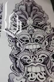 unyil tattoo bali bali mask tattoo art by unyil tattoo gallery indonesia