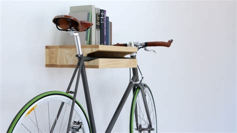 bike rack bookshelf