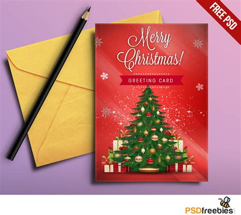 Merry Card Templates Free by Greeting Card Free Psd Psdfreebies