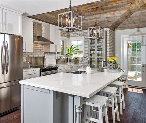 Sensate Touchless Kitchen Faucet Whitewashed Brick Amp Reclaimed Barn Wood Shiplap Interiors