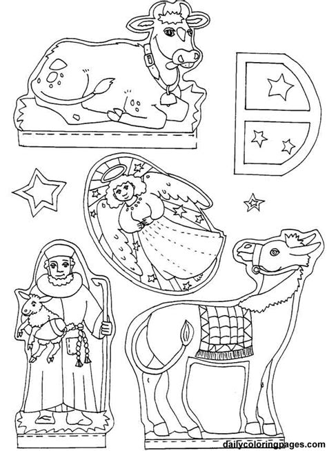 coloring pages nativity animals best photos of printable diorama free printable