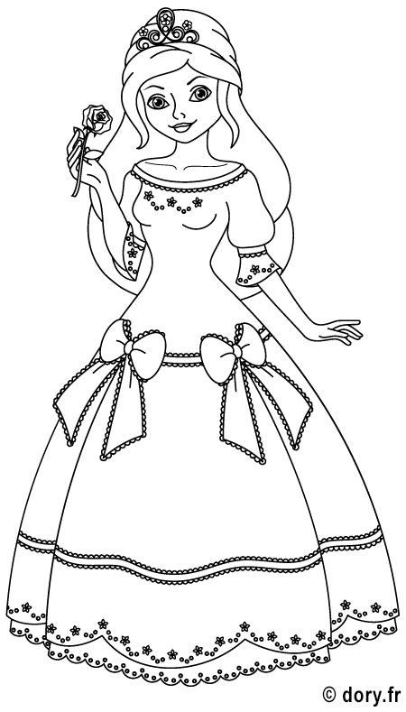 Dessin à imprimer : une princesse   Coloriages Princesses