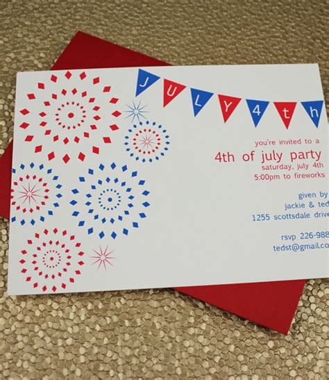 4th of july party invitation template download print