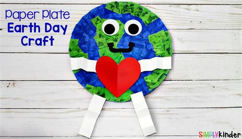 Earth Day Paper Crafts - how to make a paper plate earth day craft simply kinder