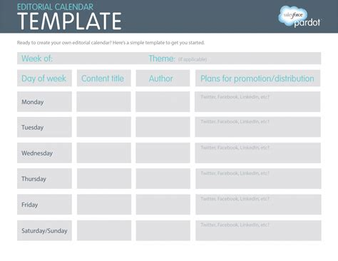 editorial calendar template an easy printable way to