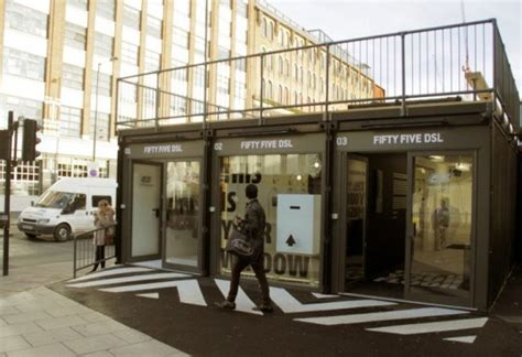 Boxpark: London's first Pop Up Shipping Container Mall Opens in Shoreditch   Inhabitat   Green