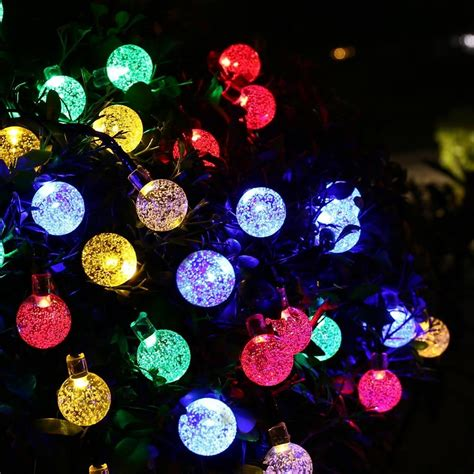solar globe string lights multi color 30 led string lights solar