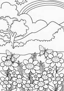 Galerry nature coloring scenes