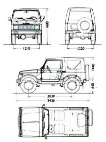 Suzuki Samurai Dimensions Suzukijeepinfo Drawing Model