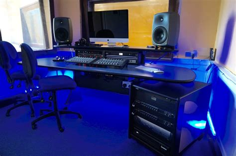 recording studio desk uk audio media desks compliment new recording studio mw