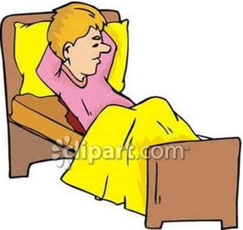 lying in bed or laying in bed a man lying in bed royalty free clipart picture